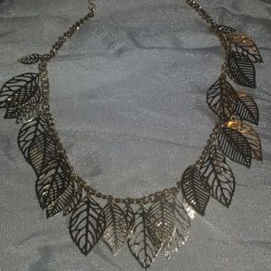Gold plated leaves necklace